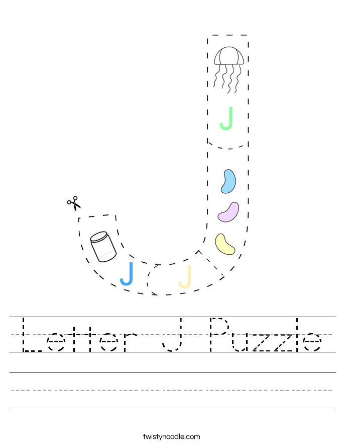 Letter J Puzzle Worksheet