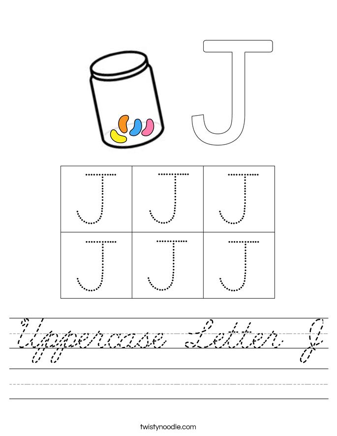 Uppercase Letter J Worksheet