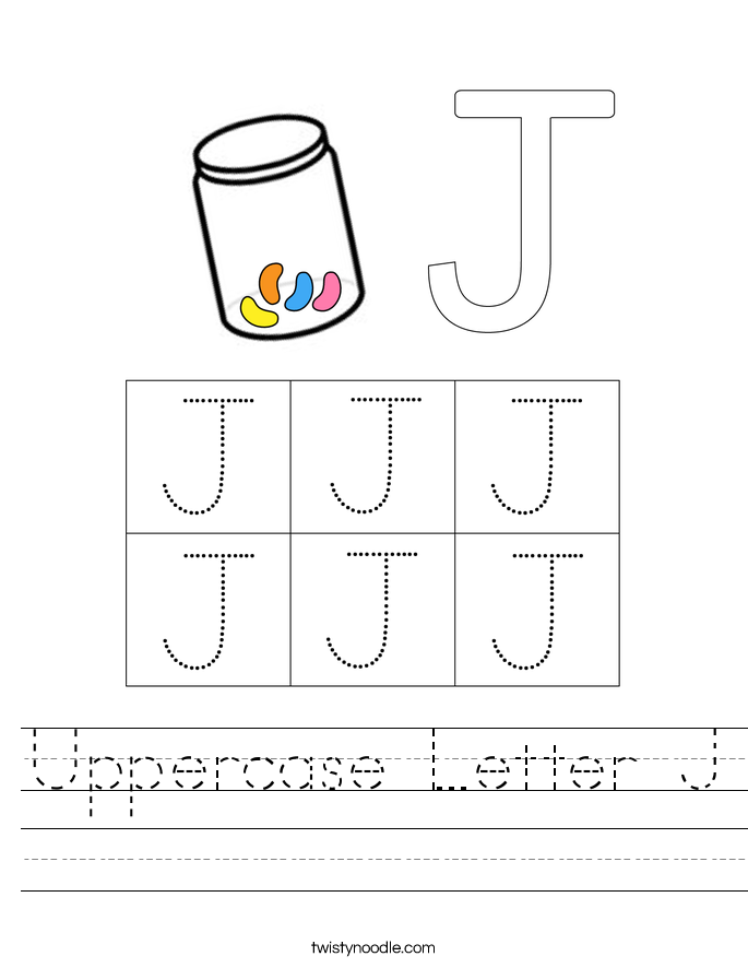 Uppercase Letter J Worksheet