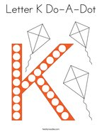 Letter K Do-A-Dot Coloring Page
