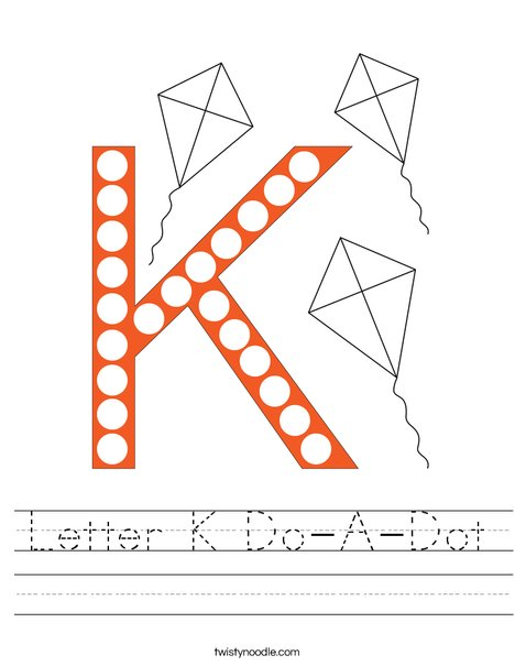 Letter K Do-A-Dot Worksheet