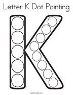 Letter K Dot Painting Coloring Page
