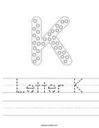 Letter K Handwriting Sheet