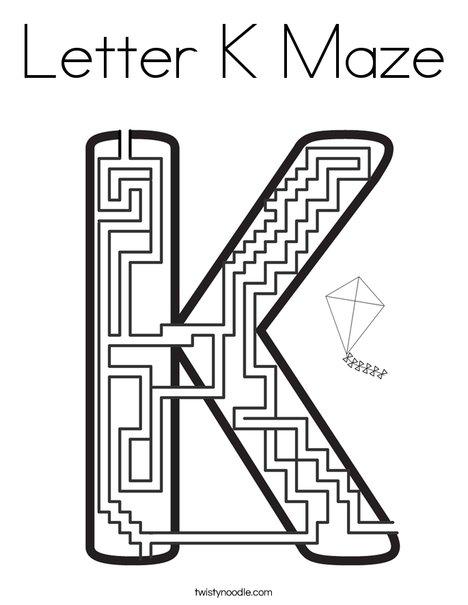 Free Printable Maze for Kids | Uppercase Letter Q | 605x468