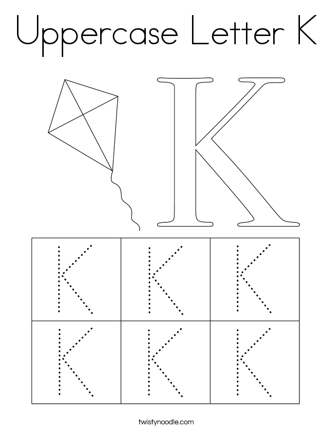 Uppercase Letter K Coloring Page