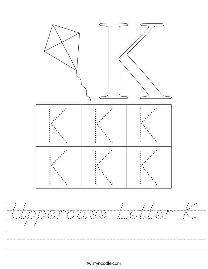 Uppercase Letter K Worksheet