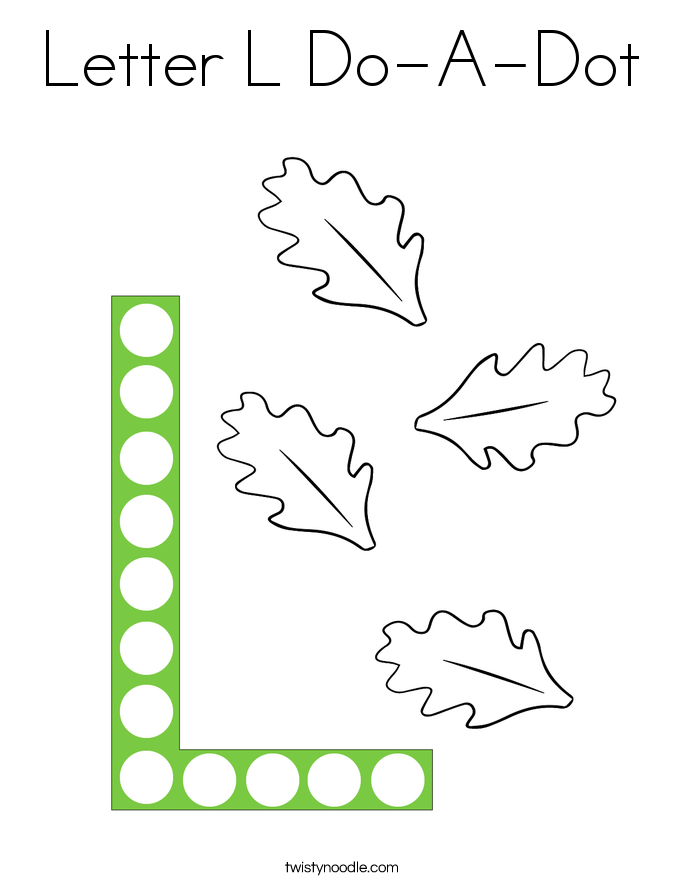 Letter L Do-A-Dot Coloring Page