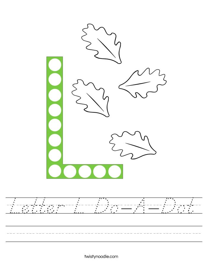 Letter L Do-A-Dot Worksheet