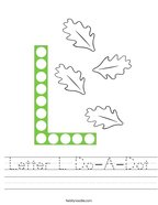 Letter L Do-A-Dot Handwriting Sheet