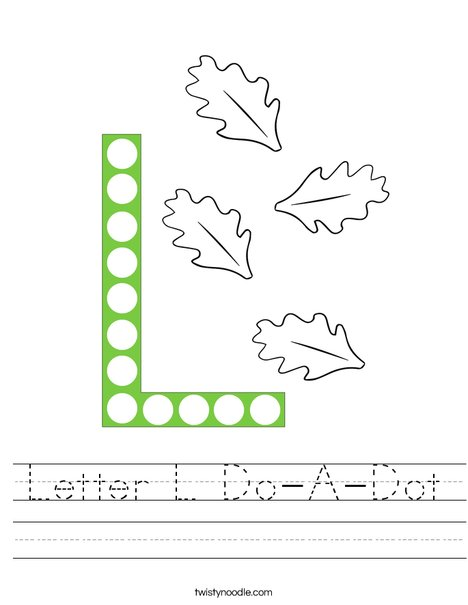 Letter L Do-A-Dot Worksheet