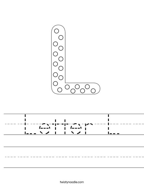 Letter L Dots Worksheet