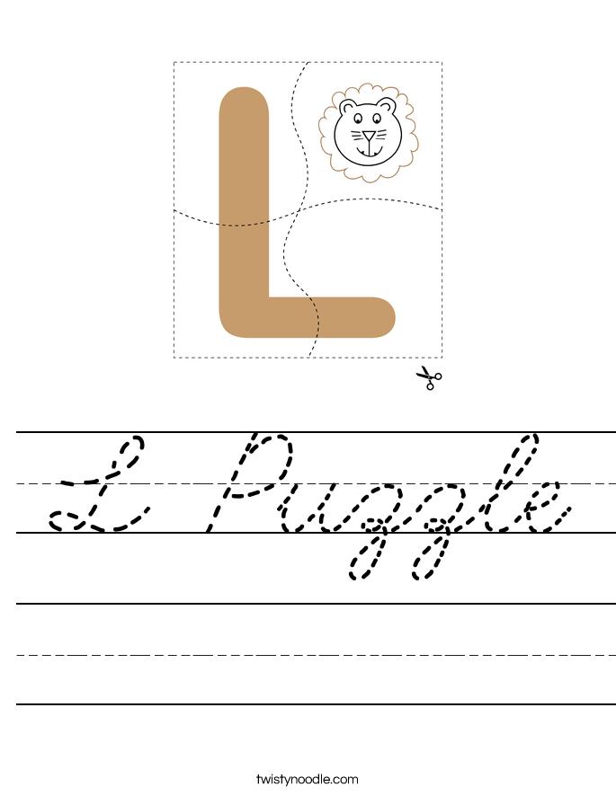 L Puzzle Worksheet