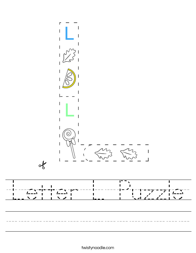 Letter L Puzzle Worksheet