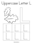 Uppercase Letter L Coloring Page