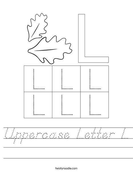 Letter L Worksheet