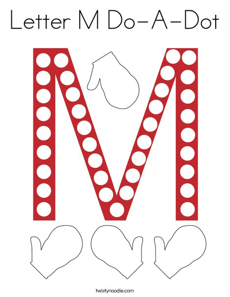 Letter M Do-A-Dot Coloring Page