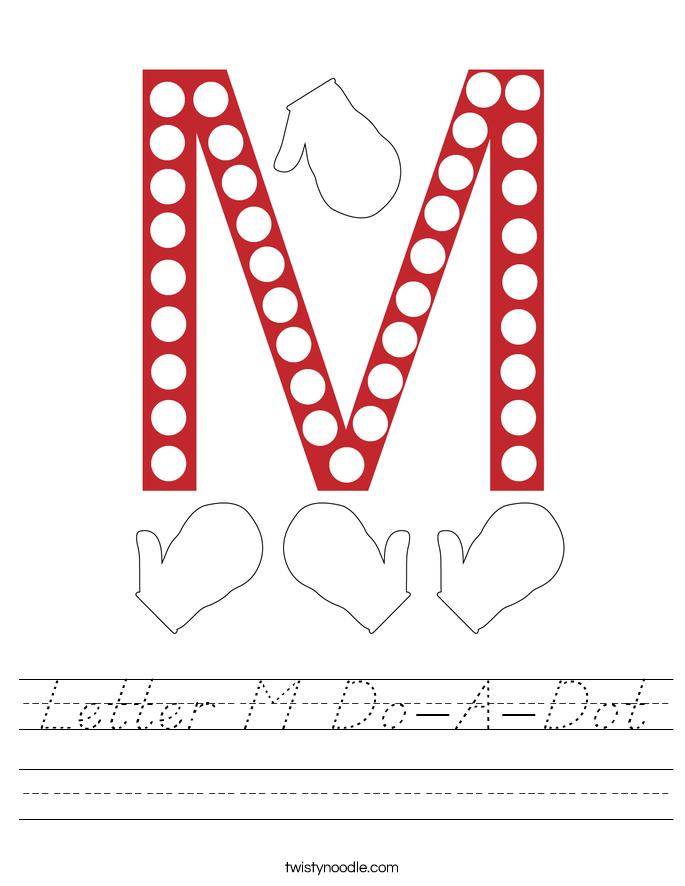 Letter M Do-A-Dot Worksheet
