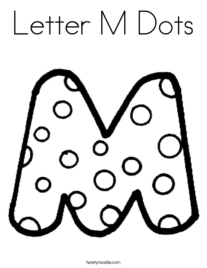 Letter M Dots Coloring Page