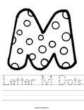 Letter M Dots Worksheet