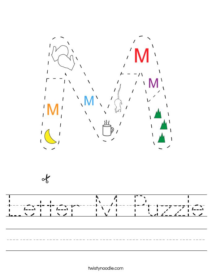 Letter M Puzzle Worksheet