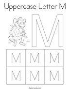 Uppercase Letter M Coloring Page