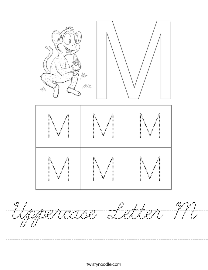 Uppercase Letter M Worksheet