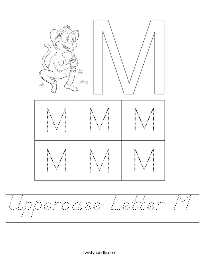 Uppercase Letter M Worksheet