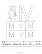 Uppercase Letter M Handwriting Sheet