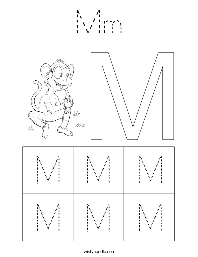 Mm Coloring Page Tracing Twisty Noodle Mm Coloring Pages