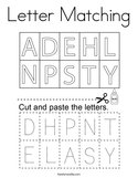 Letter Matching Coloring Page