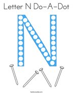 Letter N Do-A-Dot Coloring Page