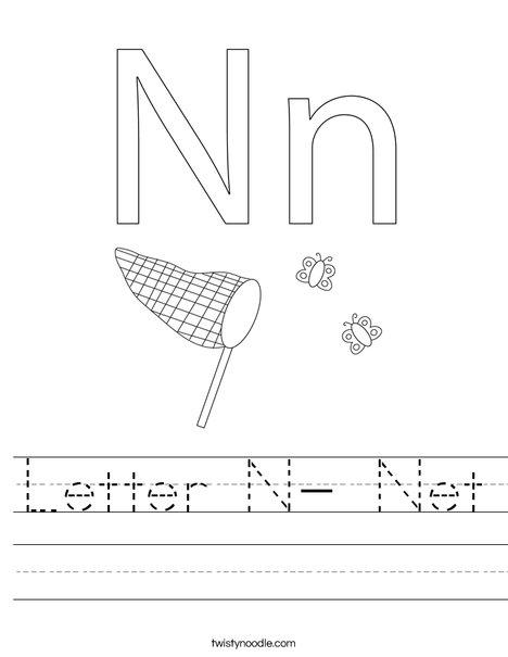 Letter N- Net Worksheet