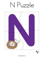 N Puzzle Coloring Page