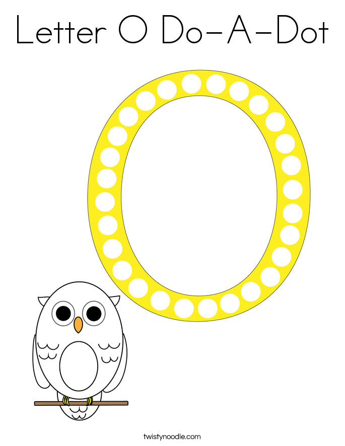 Letter O Do-A-Dot Coloring Page