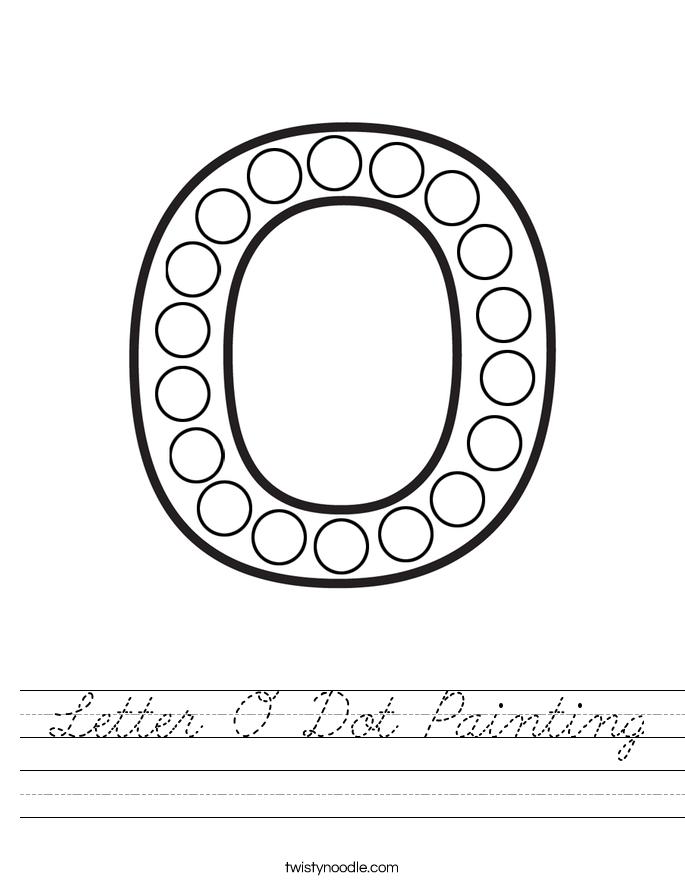 Letter O Dot Painting Worksheet