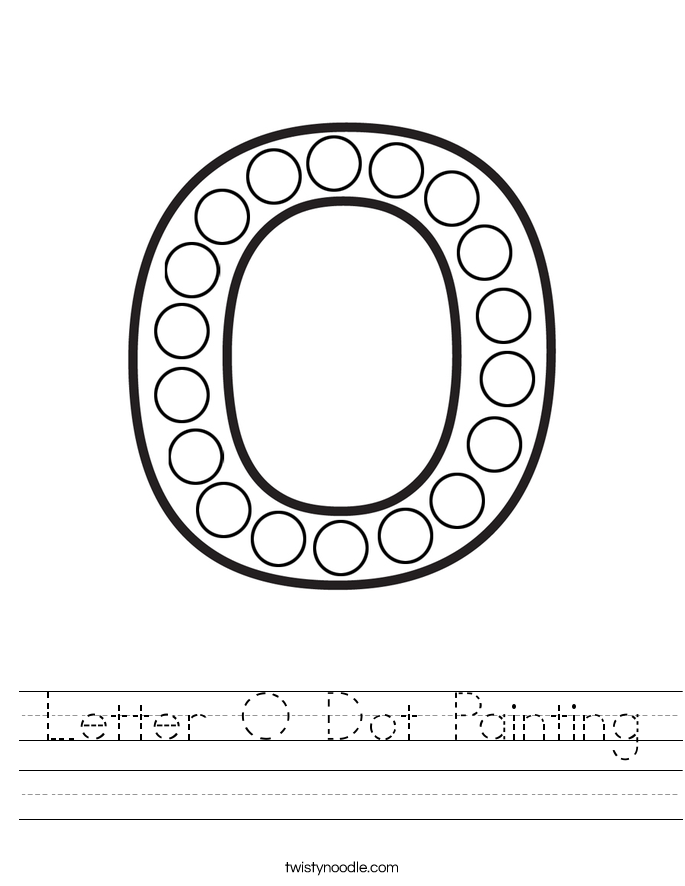 Letter O Dot Painting Worksheet