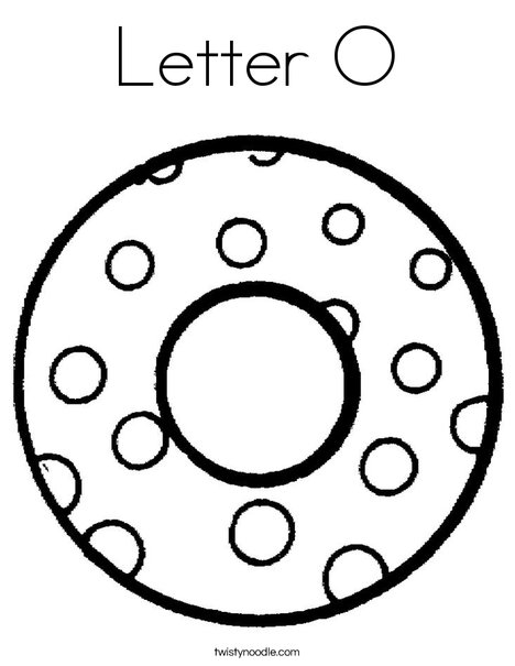 Letter O Dots Coloring Page