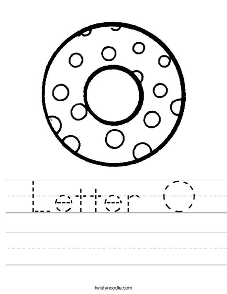Letter O Dots Worksheet