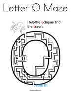 Letter O Maze Coloring Page