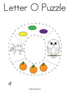 Letter O Puzzle Coloring Page
