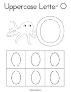 Uppercase Letter O Coloring Page