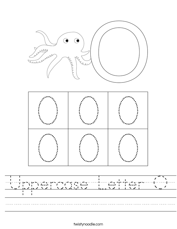 Uppercase Letter O Worksheet