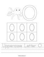 Uppercase Letter O Handwriting Sheet