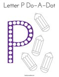 Letter P Do-A-Dot Coloring Page