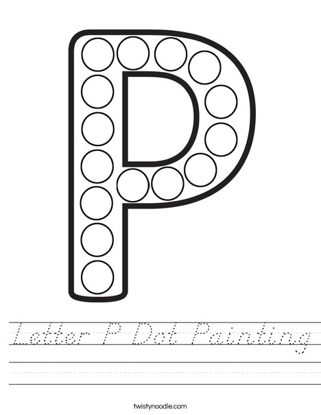 Letter P Dot Painting Worksheet