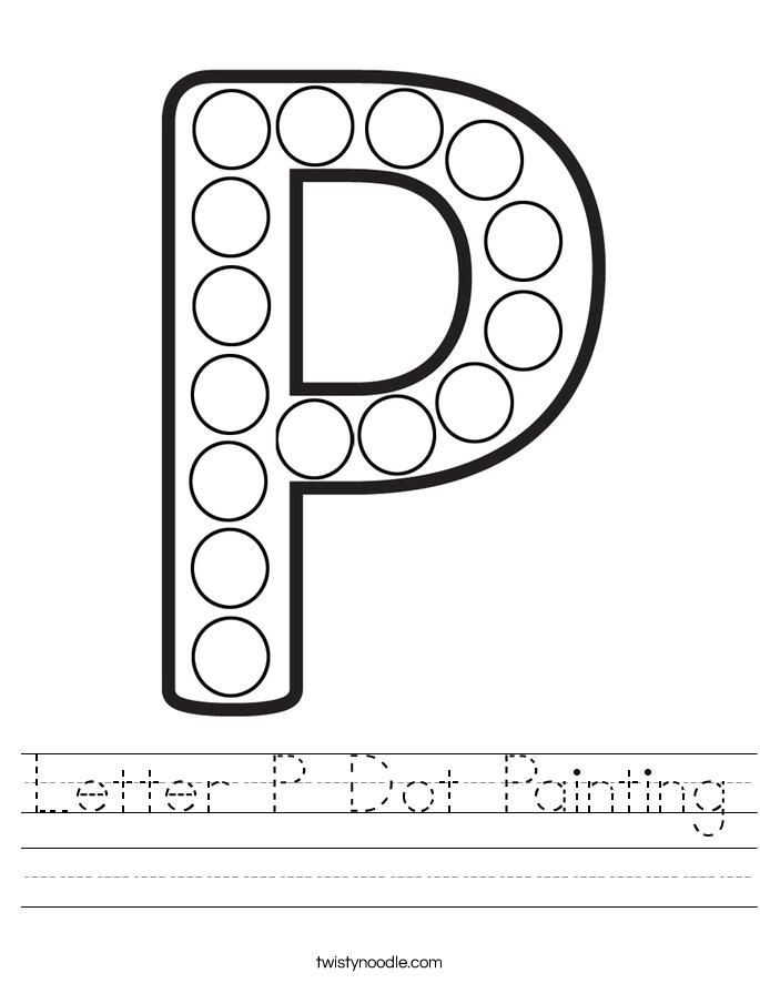Letter P Dot Painting Worksheet
