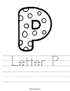 Letter P Handwriting Sheet