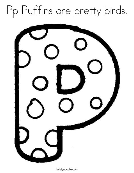 Letter P Dots Coloring Page