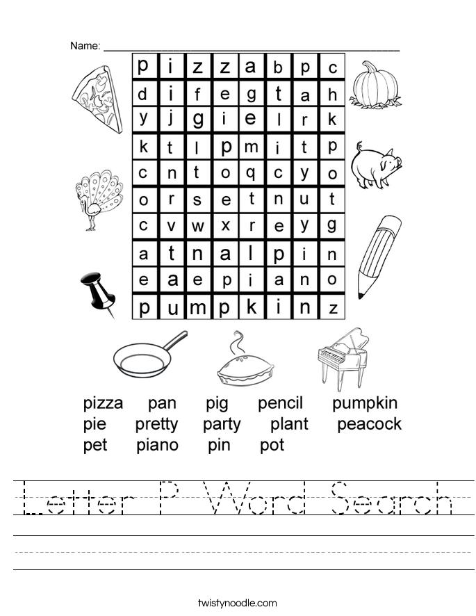 Letter P Worksheets Honghankk