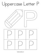 Uppercase Letter P Coloring Page